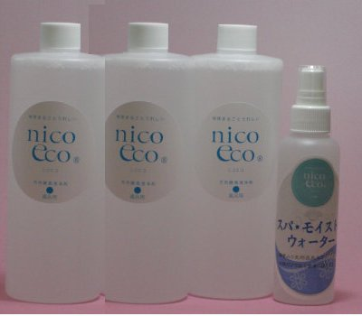 【送料無料】天然酵素清浄剤 風呂用 500ml 3本& スパ・モイスト・ウォーター150ml 1本