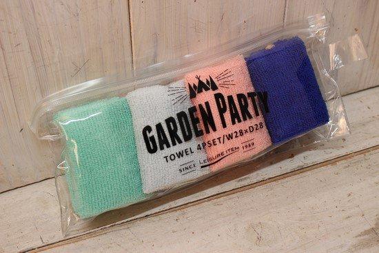 ガーデンパーティ ケース付きおしぼり4Pセット
