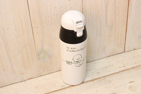 スヌーピー ワンプッシュステンレスボトル軽量
