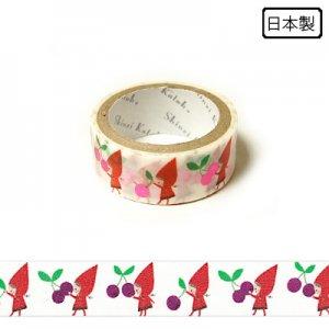 【ゆうパケット対応】トレペデコレーションテープ-きらぴか-[Red hood cherry] 15g