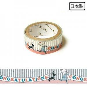 【ゆうパケット対応】トレペデコレーションテープ-きらぴか-[Congratulations] 15g