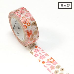【ゆうパケット対応】Masking Tape Plus -Parisランタン-[flower bambi](15mm幅)