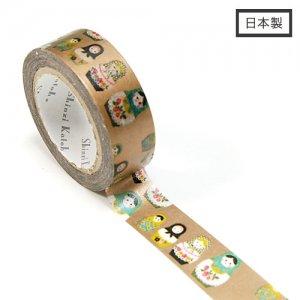 【ゆうパケット対応】Masking Tape Plus -Parisランタン-[matryoshka](15mm幅)
