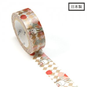 【ゆうパケット対応】Masking Tape Plus -Parisランタン-[balloon rabbit](15mm幅)