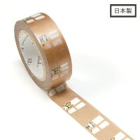 【ゆうパケット対応】Masking Tape Plus -Parisランタン-[bear&rabbit](15mm幅)