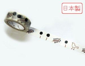 【ゆうパケット対応】いろは和紙テープ(15mm幅)[鳥と木の実]