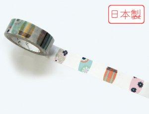 【ゆうパケット対応】いろは和紙テープ(15mm幅)[小紋]