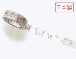 【ゆうパケット対応】いろは和紙テープ(15mm幅)[さくら湯]