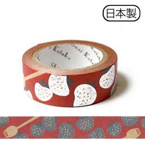 【ゆうパケット対応】クラフトデコレーションテープ-きらぴか-[strawberry2]
