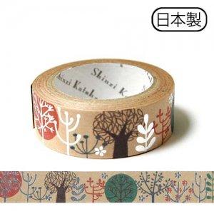 【ゆうパケット対応】クラフトデコレーションテープ-きらぴか-[trees]
