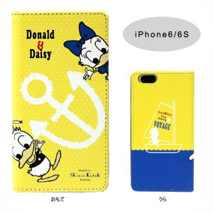 PU製 iPhone6/6Sケース[Donald&Daisy Yellow]