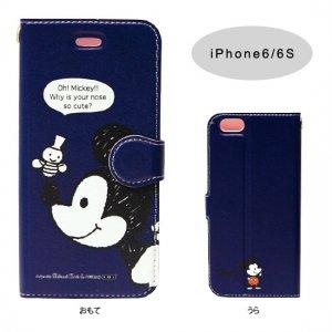 iPhone6/6Sケース[Mickey ネイビー]