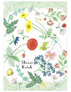 【ゆうパケット対応】バナナペーパーポストカード[Flower garden]