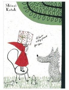 【ゆうパケット対応】バナナペーパーポストカード[Red hood present]