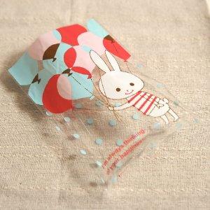 【ゆうパケット対応】OPP袋S[Balloon Rabbit](10枚入り)