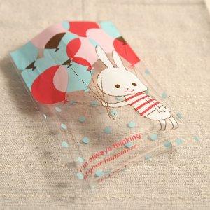 【ゆうパケット対応】OPP袋M[Balloon Rabbit](10枚入り)
