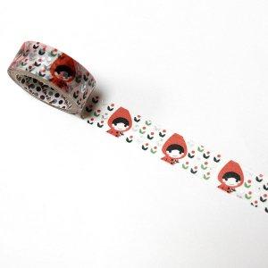 【ゆうパケット対応】トレペデコレーションテープ-きらぴか-[red hood flower]