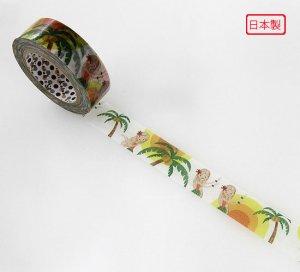 【ゆうパケット対応】マスキングテープ(15mm幅)[パームツリー]