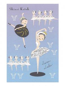 【ゆうパケット対応】ポストカード Ballet[Swanlake]
