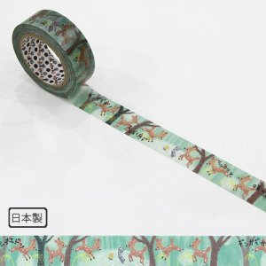 【ゆうパケット対応】マスキングテープ(15mm幅)[鹿踊りのはじまり]