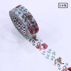 【ゆうパケット対応】マスキングテープ(15mm幅)[Red Hood Kanpai]
