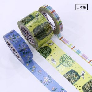 A Story Masking Tape マスキングテープ3巻セット[鳥とお花]