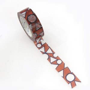 【ゆうパケット対応】マスキングテープ(15mm幅)[まるさんかく]