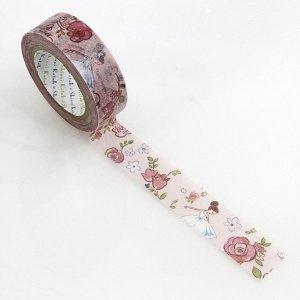 【ゆうパケット対応】マスキングテープ(15mm幅)[ballet rose]