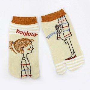 【ゆうパケット対応】足袋ソックス[Cheri bonjour]