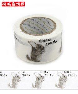 絶滅危惧種 Wideマスキングテープ(27mm幅)[CHINCHIRA]