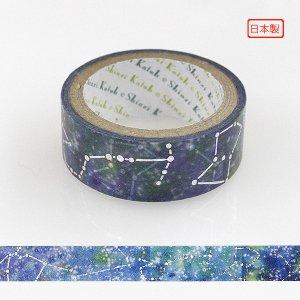 【ゆうパケット対応】トレペデコレーションテープ-きらぴか-[星座]