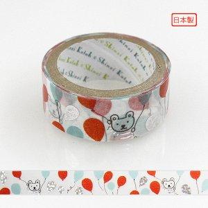 【ゆうパケット対応】トレペデコレーションテープ-きらぴか-[balloon bear]