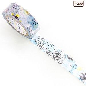 【ゆうパケット対応】マスキングテープ(15mm幅)[blue cat]