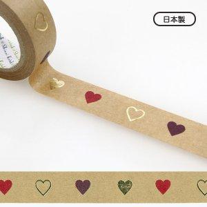 【ゆうパケット対応】クラフトデコレーションテープ-きらぴか-[heart]