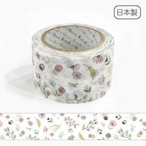 Wideマスキングテープ(27mm幅)[押し草花]