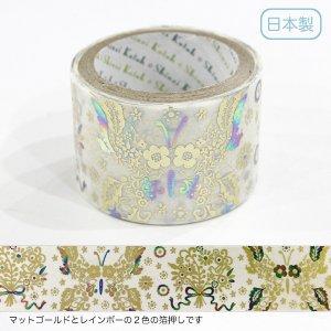 トレペデコレーションテープ-きらぴか- 27mm幅[Flower and Butterfly]