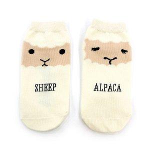 【ゆうパケット対応】レディースソックス[羊とアルパカ]