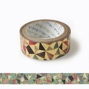 【ゆうパケット対応】きらぴかマスキングテープ[幾何学]