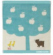 クスクスベア ゲストタオル_りんごの木の下