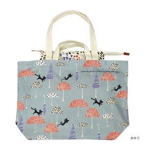シンジカトウ  キャンバストートバッグ2 傘と猫