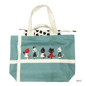 【予約商品】シンジカトウ  キャンバストートバッグ17 three cats