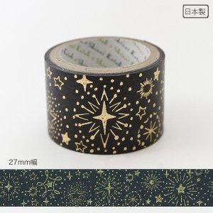 きらぴかマスキングテープ 27mm幅[きらめく星々]