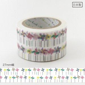 いろは和紙テープ(27mm幅)[風ぐるま]