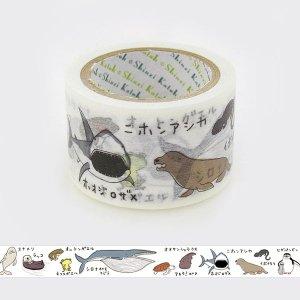 絶滅危惧種マスキングテープ(27mm幅)「水の中の絶滅危惧種2」