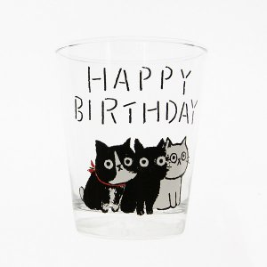 MUZU グラス[HAPPY BIRTHDAY]