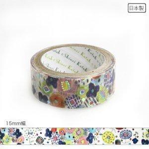 【3�ゆうパケット対応】きらぴかマスキングテープ[flower gift]