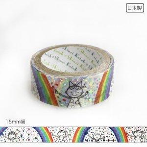 【3�ゆうパケット対応】きらぴかマスキングテープ[rainbow painter]