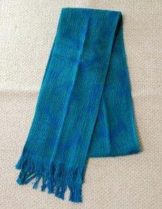 タオルマフラー(秋冬用) カラー:エメラルドブルー