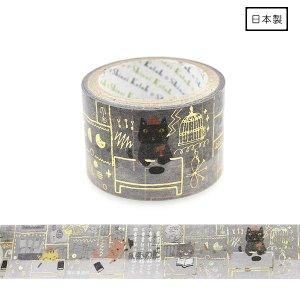 きらぴかマスキングテープ(27mm幅)[猫の事務所]