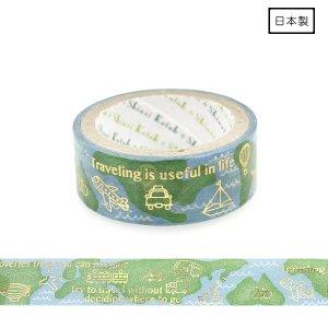 【3�ゆうパケット対応】きらぴかマスキングテープ[地球儀]